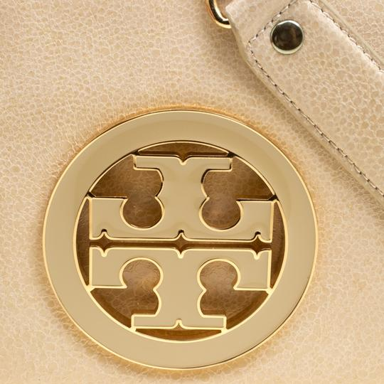 Tory Burch Leather Fabric Beige Clutch Image 9