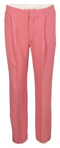 Chloé Tailored Straight Acetate Viscose Silk Trouser/Wide Leg Jeans