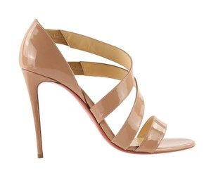 Christian Louboutin Patent Leather Leather Nude Sandals