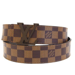 Louis Vuitton LOUIS VUITTON Men's Ceinture Belt Damier Leather Brown