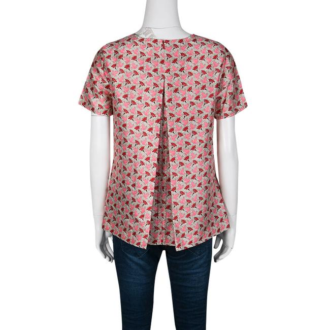 Tory Burch Silk Short Sleeve Top Multicolor Image 1