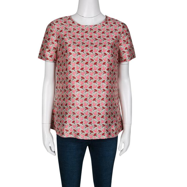 Tory Burch Silk Short Sleeve Top Multicolor Image 2
