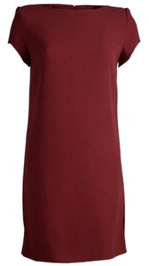 Saint Laurent short dress Red Shift Acetate Viscose on Tradesy