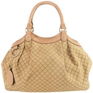 Gucci Sukey Canvas Tote in Brown