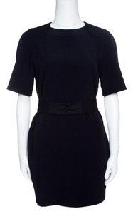 Victoria, Victoria Beckham short dress Navy Blue Belted Shift Acetate Viscose Polyester on Tradesy