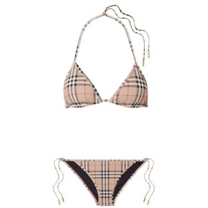 Burberry checked triangle bikini set