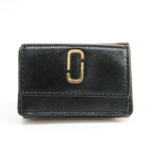 Marc Jacobs Marc Jacobs Snapshot TRIFOLD M0013597 Embossed Calf Leather Wallet (tri-fold) Black,Bordeaux,Red