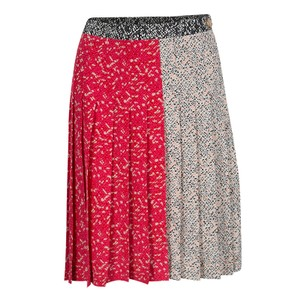 Marc by Marc Jacobs Pleated Silk Mini Skirt Multicolor