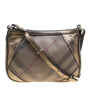 Burberry Pvc Leather Bronze Shoulder Bag