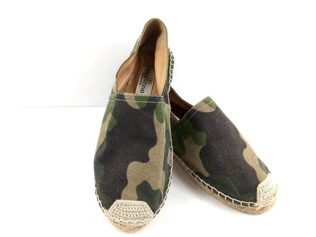 Item - Green / Tan Star Camouflage Flats Size EU 38 (Approx. US 8) Regular (M, B)