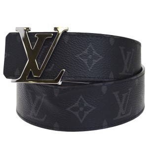 Louis Vuitton LOUIS VUITTON LV Ceinture Belt Eclipse Leather Black