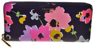 Kate Spade Slim Continental Sylvia Wildflower Zip Around wallet