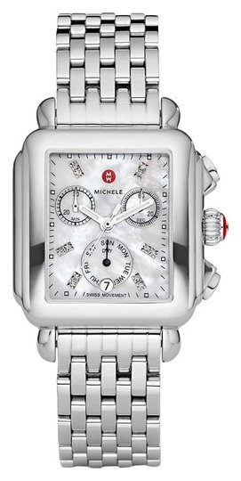 Preload https://img-static.tradesy.com/item/25832987/michele-silver-deco-stainless-mother-of-pearl-diamond-dial-mww06p000014-watch-0-1-540-540.jpg