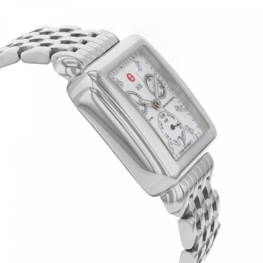 Michele Deco Stainless Steel Mother Of Pearl Diamond Dial Mww06p000014 Image 9