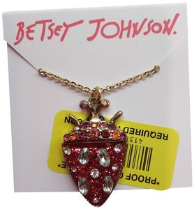 Betsey Johnson Betsey Johnson New Red Bug Necklace