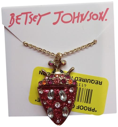 Betsey Johnson Betsey Johnson New Red Bug Necklace Image 0