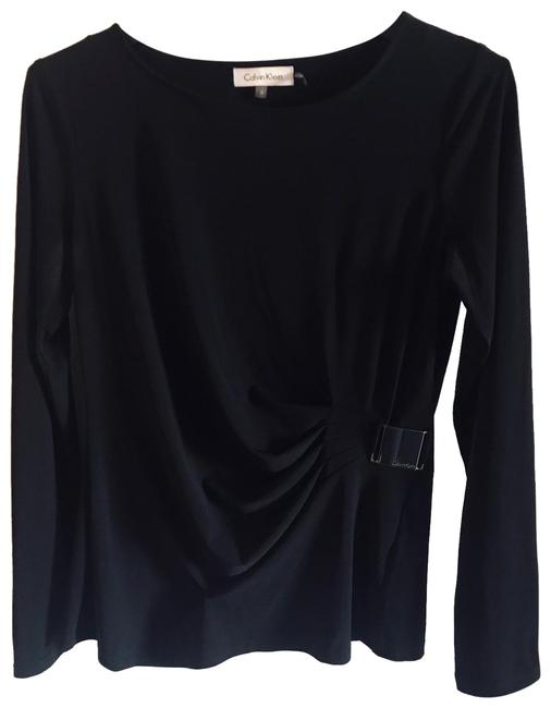 Preload https://img-static.tradesy.com/item/25833096/calvin-klein-black-long-sleeves-with-the-buckle-on-one-blouse-size-6-s-0-1-650-650.jpg