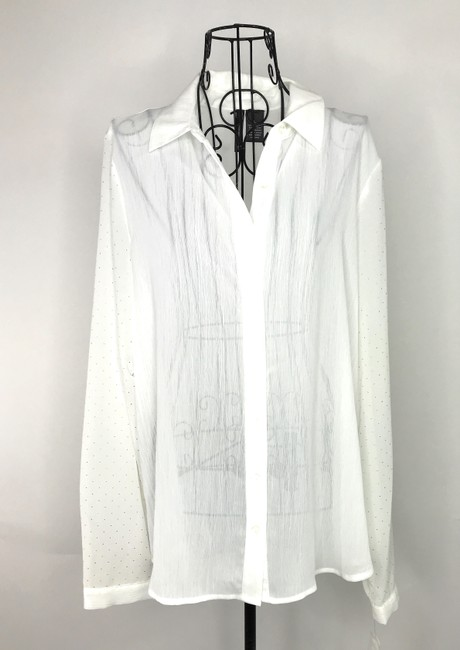 NEW DIRECTION Button Down Shirt White Image 1
