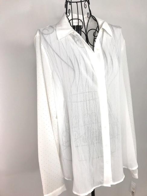 NEW DIRECTION Button Down Shirt White Image 6