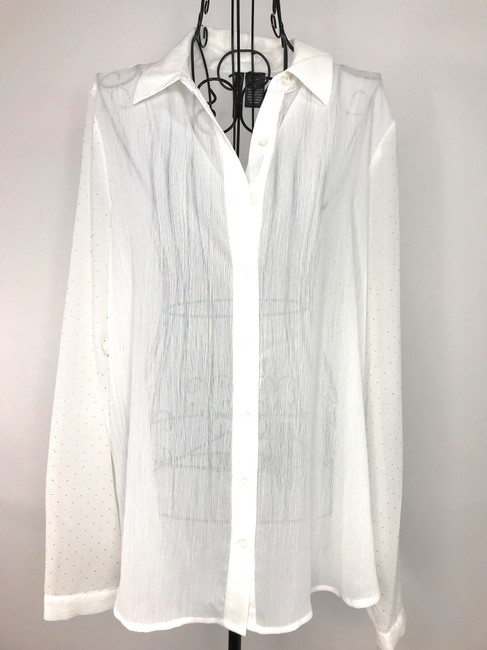 NEW DIRECTION Button Down Shirt White Image 7