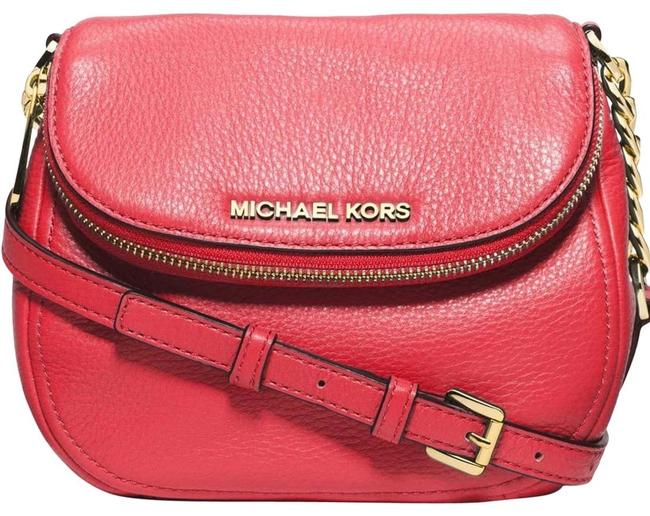 Item - Bedford Small Coral Leather Cross Body Bag