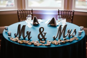 "Silver Glitter ""Mr & Mrs"" Wooden Letters Plus Wooden Table Numbers 2 - 15 Tableware"