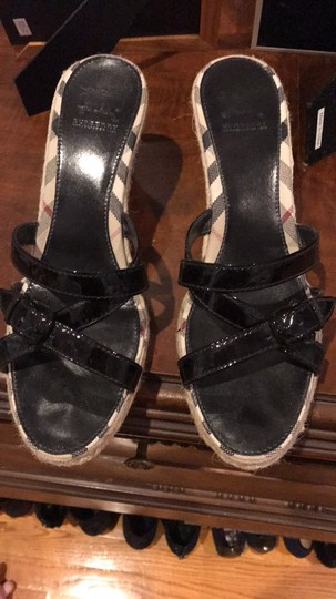 Burberry classic plaid Wedges Image 1