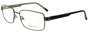 Gant GA3102-009-58 Rectangle Men's Gunmetal Frame Clear Lens Eyeglasses