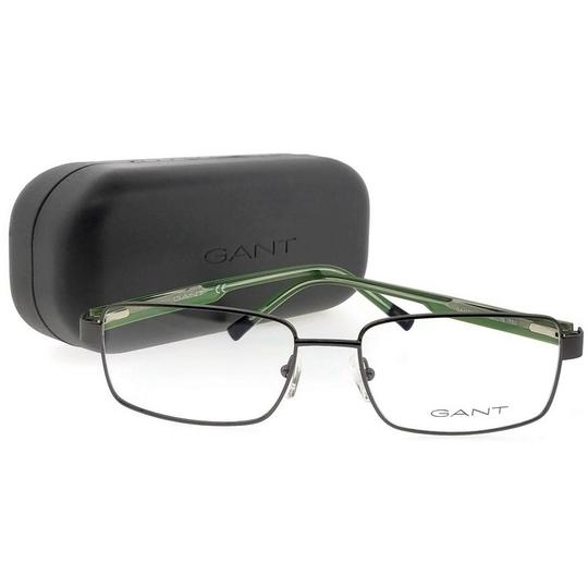 Gant GA3102-009-58 Rectangle Men's Gunmetal Frame Clear Lens Eyeglasses Image 4