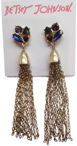 Betsey Johnson Betsey Johnson New Gold Chandelier Earrings