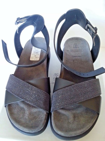 Brunello Cucinelli Black Sandals Image 1