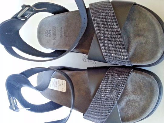 Brunello Cucinelli Black Sandals Image 2