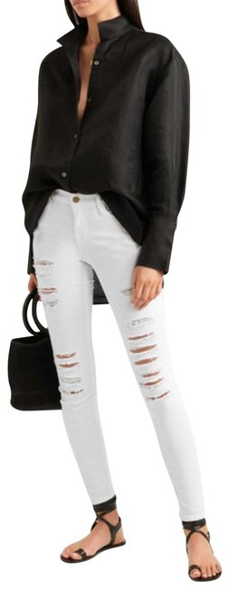 FRAME Skinny Jeans-Distressed Image 0