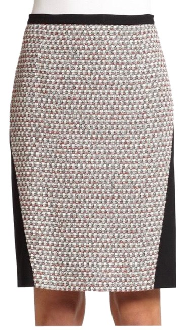 Piazza Sempione Black Jersey Compact and Tweed Pencil Skirt Size 4 (S, 27) Piazza Sempione Black Jersey Compact and Tweed Pencil Skirt Size 4 (S, 27) Image 1