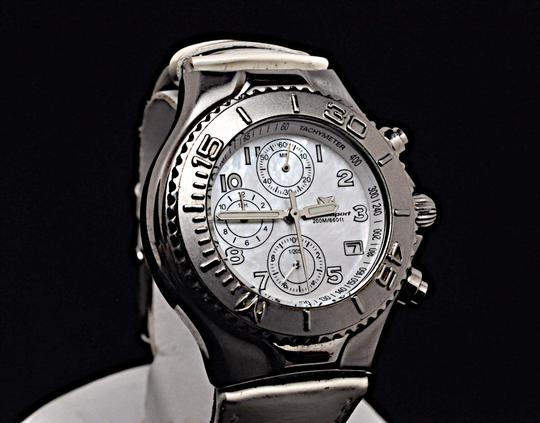 TeenBell TECHNO SPORT by Technomarine 200m 660 ft MOP Stainless Chronograph Image 4