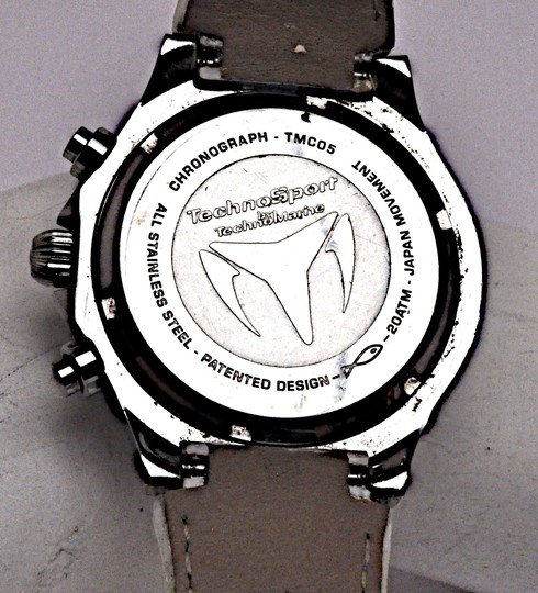 TeenBell TECHNO SPORT by Technomarine 200m 660 ft MOP Stainless Chronograph Image 5