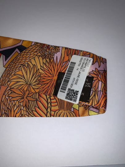 Hermès Hermes Twilly Animapolis Orange Jaune Rose Image 4