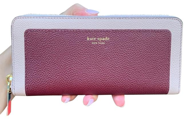 Kate Spade Cherrywood Multi Margaux Slim Leather Continental Wallet Kate Spade Cherrywood Multi Margaux Slim Leather Continental Wallet Image 1