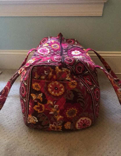 Vera Bradley maroon, orange, white, brown Travel Bag Image 1