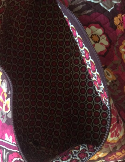 Vera Bradley maroon, orange, white, brown Travel Bag Image 2