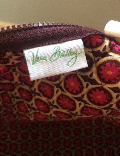 Vera Bradley maroon, orange, white, brown Travel Bag Image 3