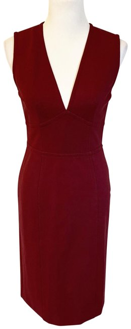 Gucci Red Burgundy Jersey - Style 389839 Mid-length Night Out Dress Size 12 (L) Gucci Red Burgundy Jersey - Style 389839 Mid-length Night Out Dress Size 12 (L) Image 1