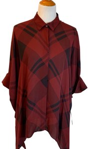 Gucci Top Red, Burgundy, Black, Plaid