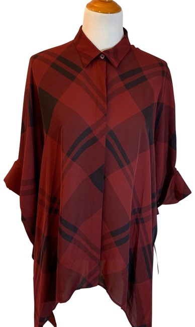 Preload https://img-static.tradesy.com/item/25833581/gucci-red-burgundy-black-plaid-oversize-and-silk-shirt-style-234852-blouse-size-os-one-size-0-1-650-650.jpg