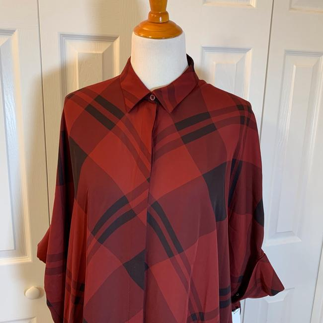 Gucci Top Red, Burgundy, Black, Plaid Image 1