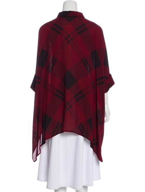 Gucci Top Red, Burgundy, Black, Plaid Image 10