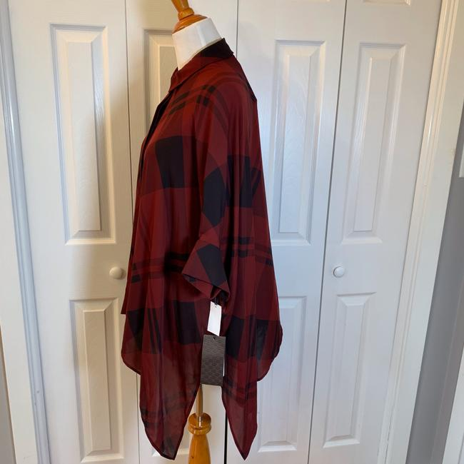 Gucci Top Red, Burgundy, Black, Plaid Image 3