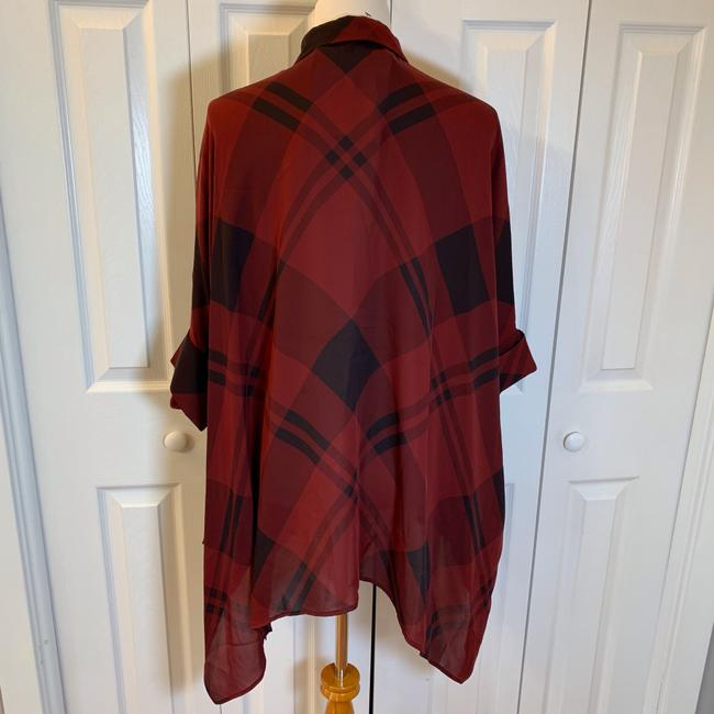 Gucci Top Red, Burgundy, Black, Plaid Image 4