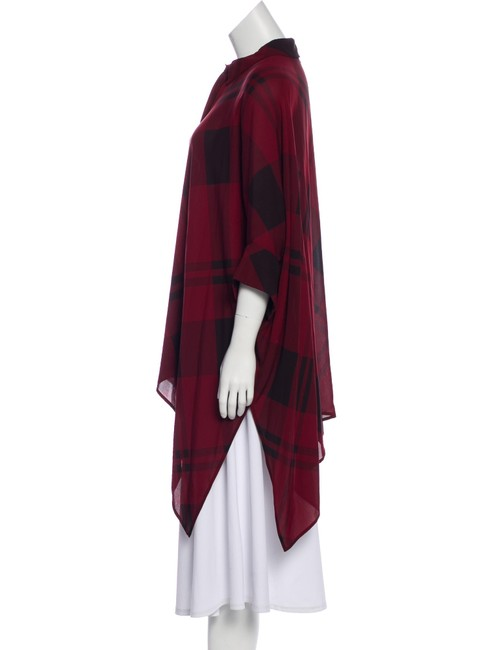 Gucci Top Red, Burgundy, Black, Plaid Image 9