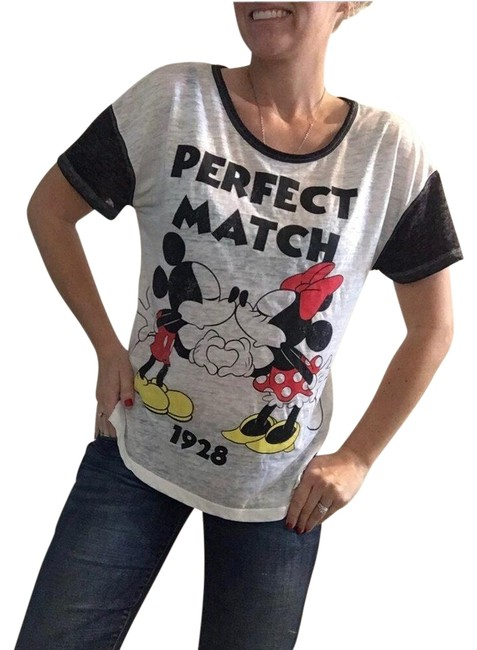 Preload https://img-static.tradesy.com/item/25833646/disney-white-black-red-and-yellow-shirt-mickey-minnie-mouse-cotton-shirt-love-walt-women-s-tee-shirt-0-1-650-650.jpg